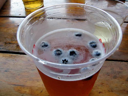 one way to get me to buy beer in a restaurant is to put blueberries in it
