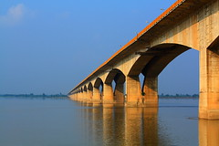 Gandhi Setu Bridge in Patna, India.
