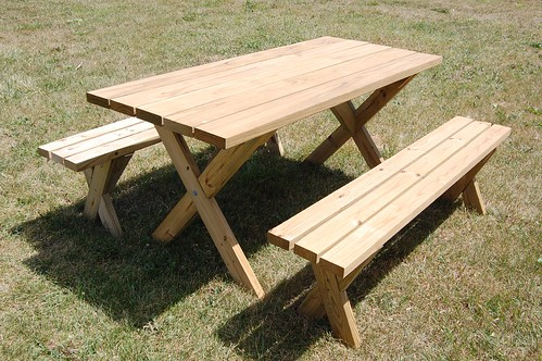 Picnic table on Pinterest