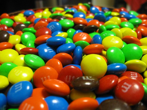 chocolates M&Ms azules