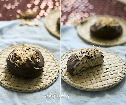 Chocolate Covered Marshmallow Cookies with Toasted Coconut
