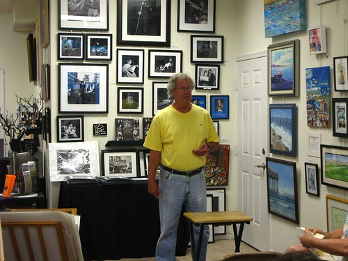 Bud Cole, the host of the Ocean City Fine Arts League open mic