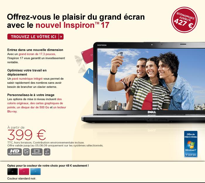 """Dell Inspiron 1750 - 17,3"""" & 399 euros"""