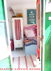 ENTER-THE-HOLIVAN (HAPPY LOVES ROSIE) Tags: flowers red max green ikea yellow vintage garden happy strawberry deckchair cheeky next retro gingham caravan chic decor unionjack 1950 pram polkadot decorated blighty shabby cathkidston grannyblanket happylovesrosie frenchenamel bluecheck tanyawhelan vintex 2berth fisherholivan happyshabby bellingcooker