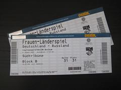 Eintrittskarten für das Frauen-Fußball-Länderspiel Deutschland vs. Russland