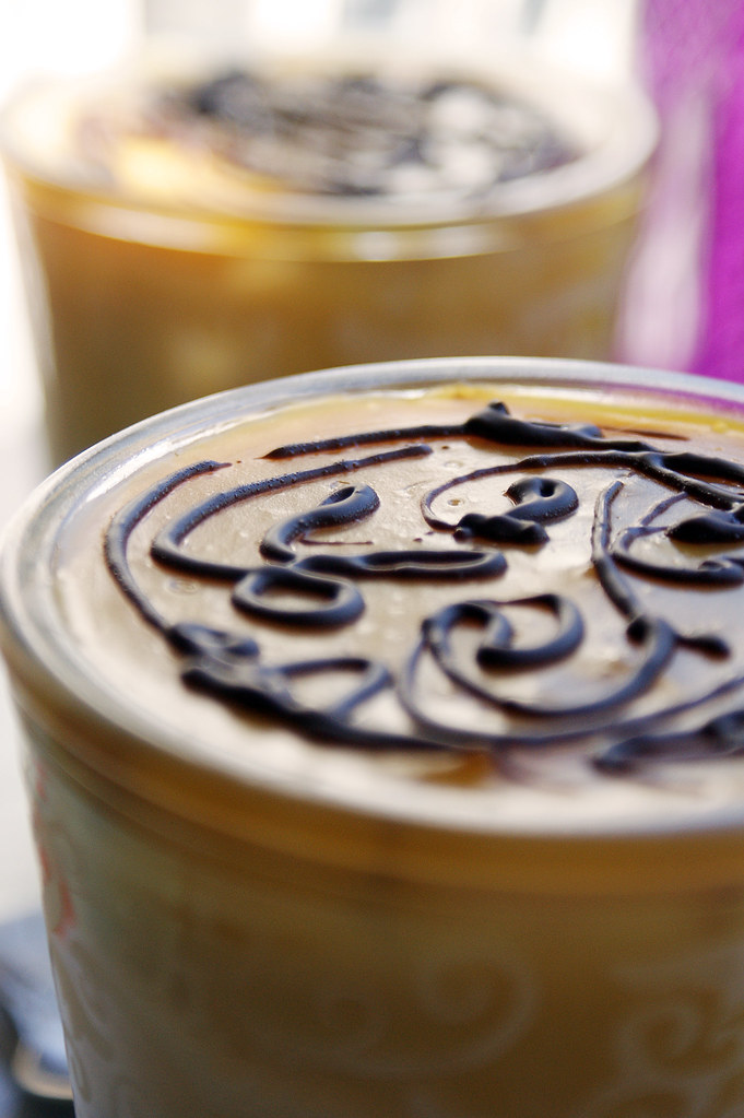 Chocolate & dulce de leche pudding