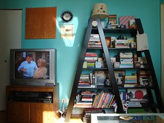 psst -- my roommate is selling this TV (organizingthesoup) Tags: nyc tv apartment uppereastside inresidence
