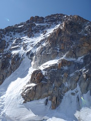 The N. Face of the Triangle Du Tacul, Mt. Blanc Range.