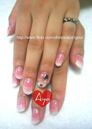 Pink And White Nails Vs Gel. pink and white design with