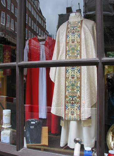 How much are those vestments in the window?