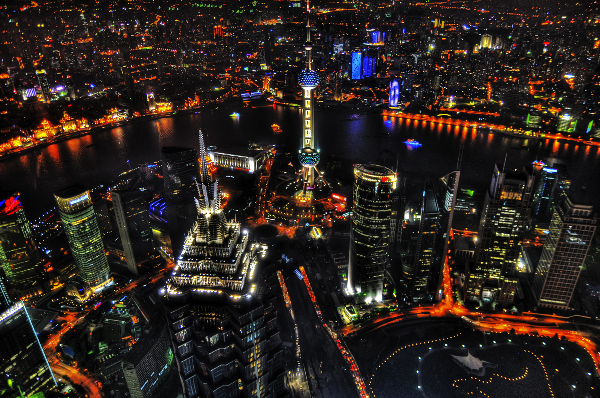 Shanghai Skyline from 492 Meters