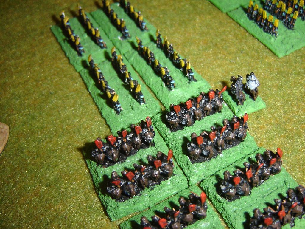 Takeda cavalry hit Takigawa Ashigaru flank