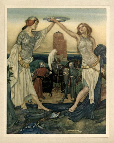 005- -Le morte Darthur 1921- William Russell Flint