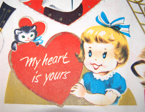 Vintage valentine punch out book