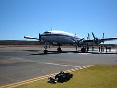 Constellation 029 (Belinda Lee. W) Tags: plane airplane airport aircraft australia super aeroplane landing western historical restoration outback connie lockheed society constellation hars goldfields