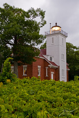 40 Mile Point Lighthouse Before the Storm