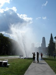 Carnegie Geyser (elston) Tags: water pittsburgh accident sidewalk carnegiemellon geyser cathedraloflearning hamerschlag