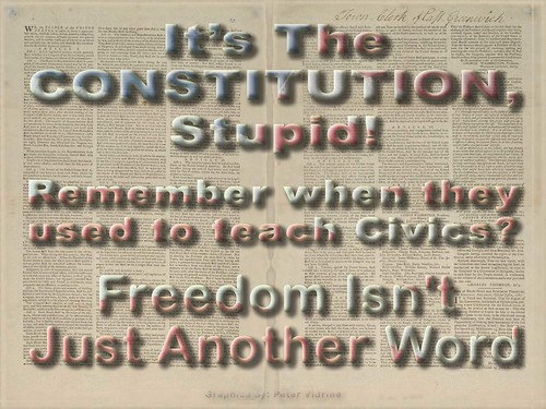 It's the Constitution, Stupid!  Remember when they used to teach Civics?