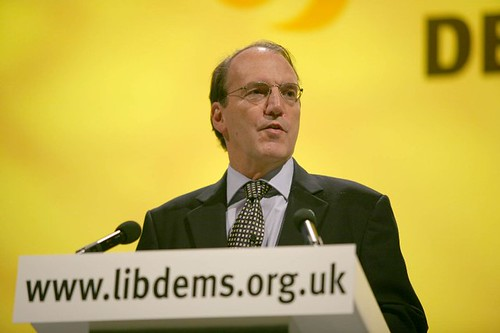 Simon speaking at Lib Dem spring conference in Harrogate
