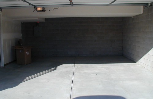 The garage before we moved in