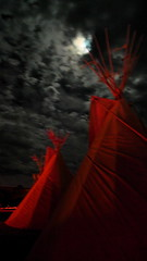 red lightning full moon (AcroYogi) Tags: red party festival clouds dark nightshot nevada playa fullmoon burningman blackrockcity nativeamerican brc esplanade ritual wisdom tradition tipi teepees hualapai blackrockdesert tipis redlightning mysteryschool lightningtemple ttitd brc09 burningman:camp=2176