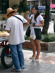 Snack Time (GB-in-TH) Tags: thailand student uniform asia bangkok candid th rattanakosin krungthep  bowonniwet