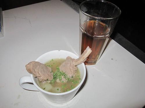 燉羊肉配涼茶燉羊肉配涼茶