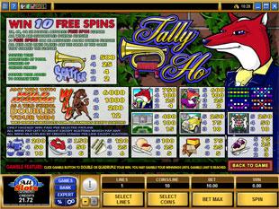 free Tally Ho slot mini symbol