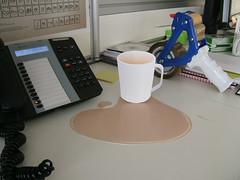 cardboard cup of tea and spillage (imeusdesign) Tags: art illustration design designer illustrator anthonypeters blockcolour imeusdesign