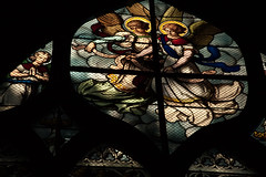 Stained Glass Window, St. Severin (bump) Tags: baby paris france church glass angel cathedral stained severin stsverin