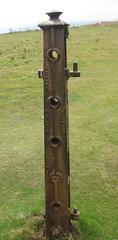 Cast iron fence/gate post (wonky knee) Tags: castiron fencepost gatepost francishortonpatentliverpool