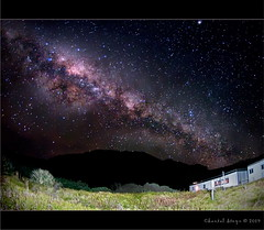 MilkyWay... (Chantal Steyn) Tags: light colour building stars landscape nikon long exposure nightscape fisheye nikkor 30sec milkyway d300 105mm nohdr goughisland
