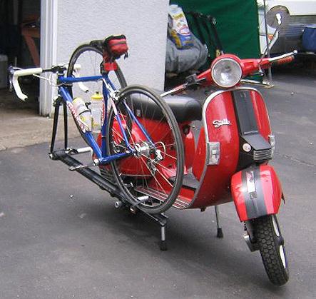 Modern Buddy Bike Rack On Scooter