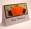 Origami Pumpkin Thanksgiving Card