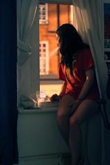 Midnight Girl (Diet_Kerouac) Tags: orange window water girl night smoke blow colourmusic