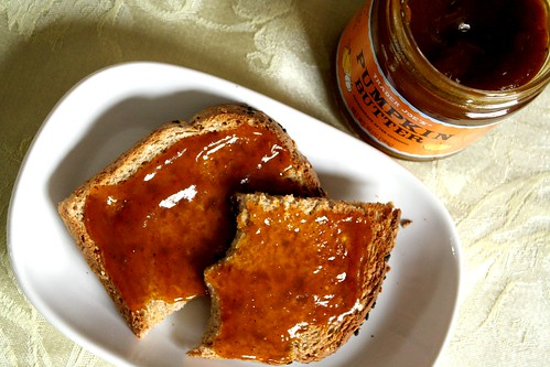 multigrain toast + pumpkin butter