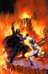 Boba Fett and Darth Vader (Eddie is the walrus) Tags: starwars darthvader anakinskywalker mustafar bobafet