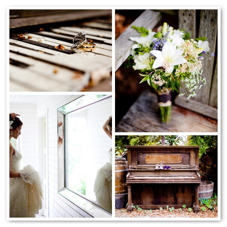 Eastern Rustic Organic Wedding piano