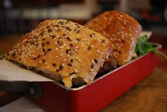 Linseed and Sesame Bread - Middle Eastern Breakfast Roll - Gas Eatery & Supplies AUD12.50 - photo by Julia (avlxyz) Tags: food breakfast bread sausage sandwich vic turkish sucuk middleeastern southmelbourne sujuk southmelbournevic gaseaterysupplies gaseateryandsupplies sucuck