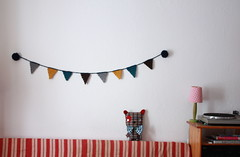 pom poms crochet bunting for the winter days (super ninon) Tags: interiors crochet interiordesign homedecor pompoms bunting
