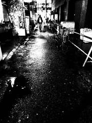 雨 ~ Rain (20091007_oomiya_10) (pqw93ct) Tags: bw white black monochrome rain japan rainy saitama ricoh 埼玉 モノクロ 白黒 雨 oomiya 大宮 gx200