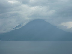 Looking out over lake Atitlan.