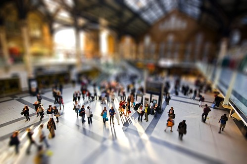 Liverpool Street Tilt Shifted