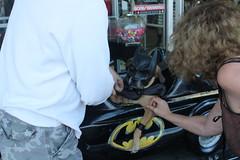 Batdog (Paul D Hayes) Tags: street dog beach halloween long 2nd batman batmobile 2009 batdog