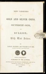 Eckfeldt-DuBois New Varieties 1850 title page