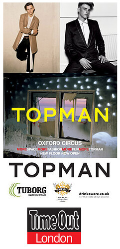Time Out Events- Topman exclusive night of shopping