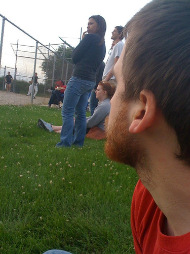 matt watching softball