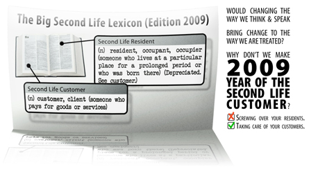 Second Life Lexicon - Resident (depreciated) vs. Customer