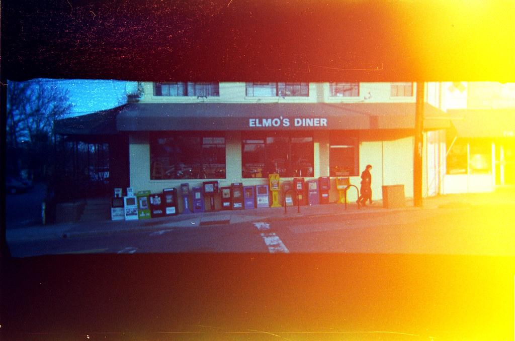 Elmo's Diner ~ best banana pancakes in North Carolina