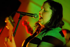 Hot Lava (eatsdirt) Tags: nyc concert gig livemusic hotlava deathbyaudio january2009 allisonapperson